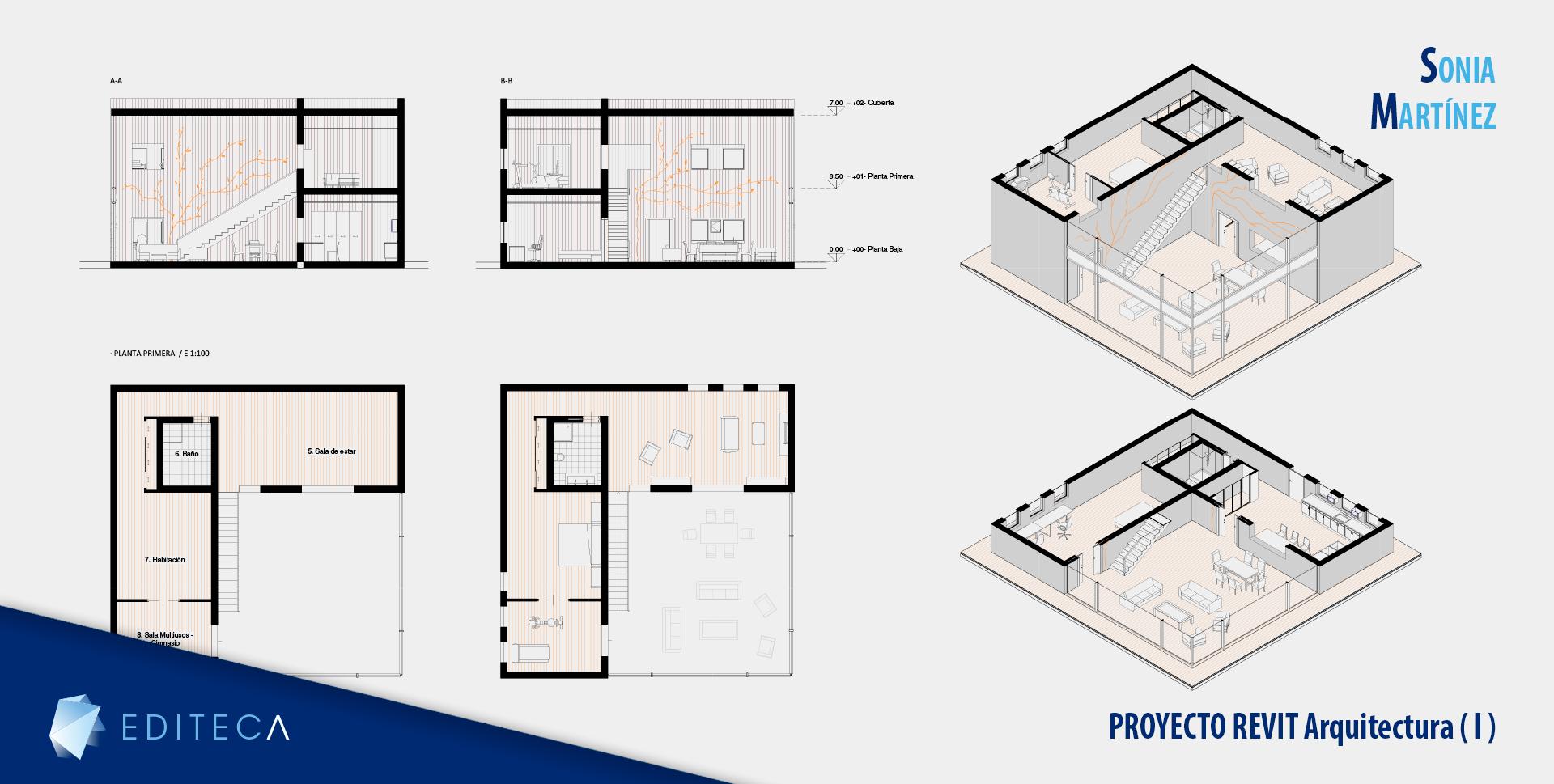 proyecto curso de revit arquitectura - Sonia