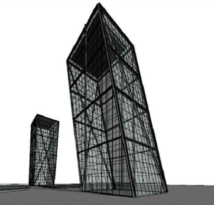 Torres KIO on REVIT