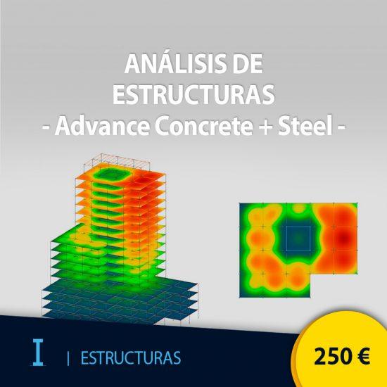 Curso online análisis de estructuras con Advance Concrete + Steel