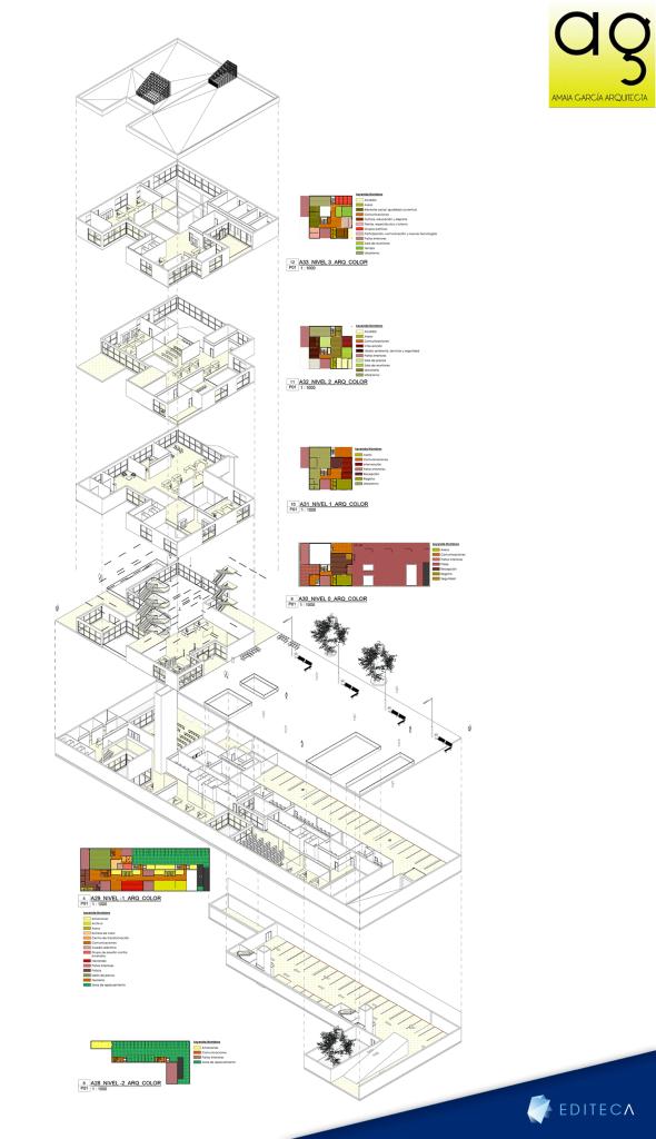 proyecto arquitectura avanzado amaia axonometria