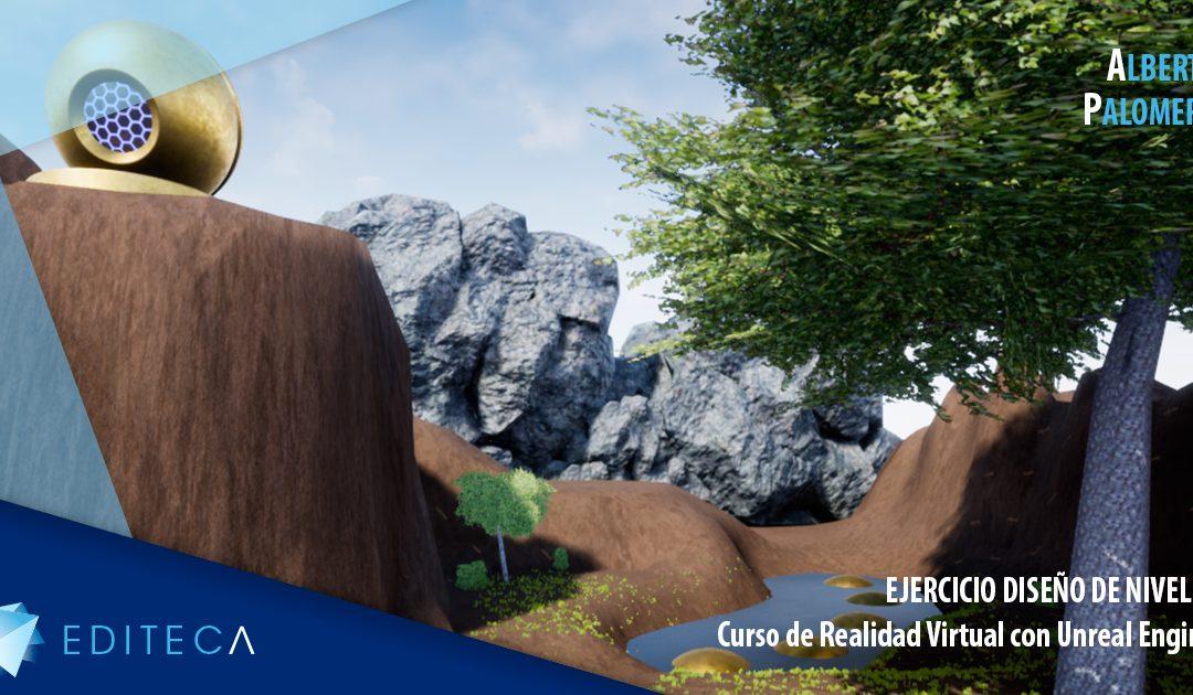 Ejercicio Unreal Engine – Edición de niveles terrenos – Alberto Palomero