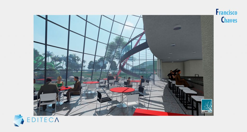 proyecto de lumion - Vista restaurante