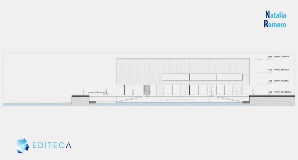 proyecto revit arquitectura intermedio-natalia-romero-alzado