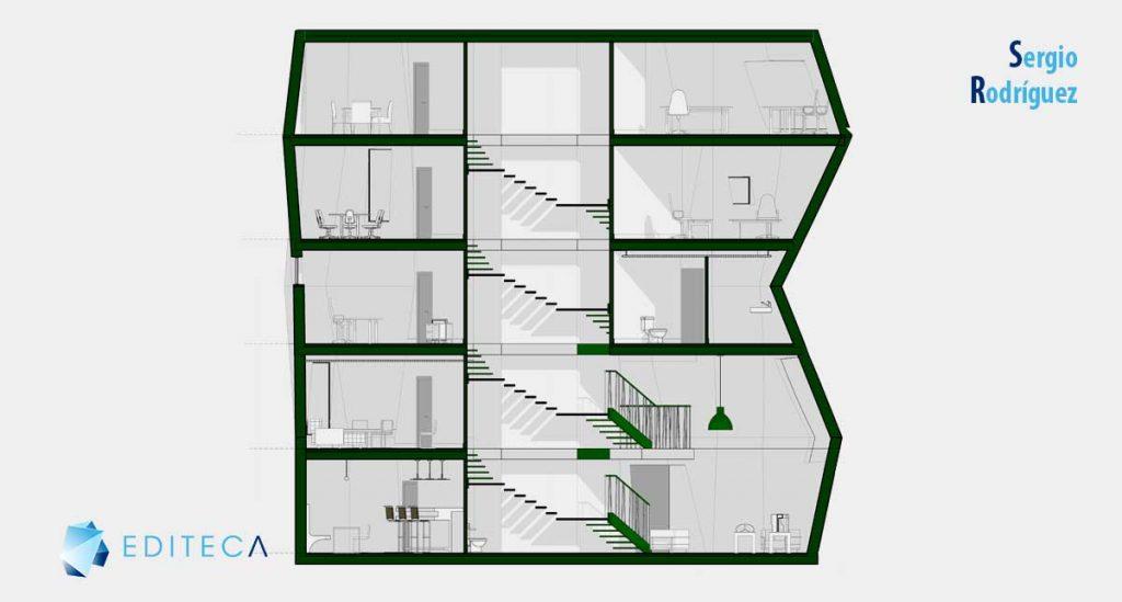 sección-proyecto-revit-interiorismo
