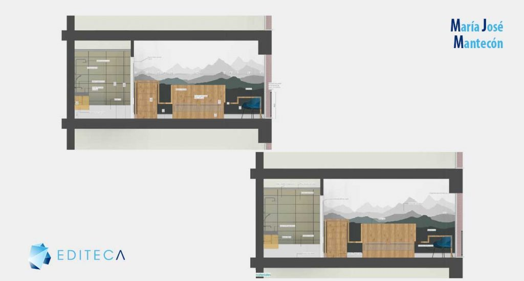 secciones-proyecto revit interiorismo María José Mantecón