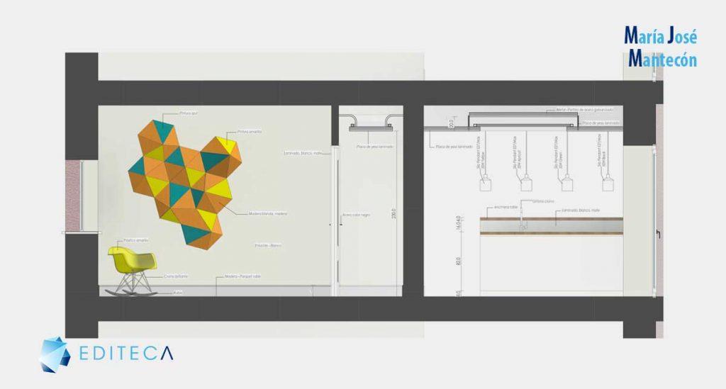 secciones-2-proyecto revit interiorismo María José Mantecón