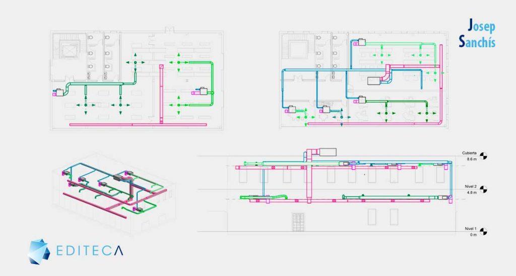 proyecto de Revit Instalaciones MEP - climatización