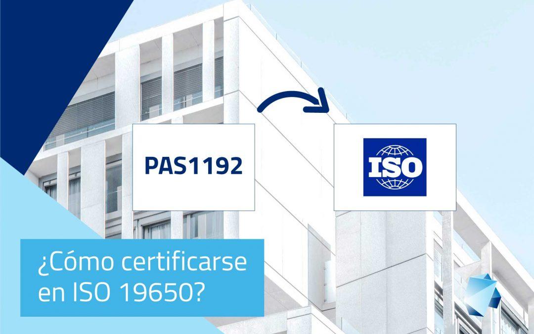 ¿Cómo certificarse en ISO 19650?