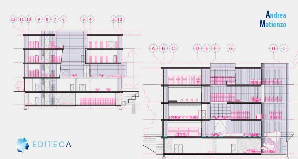 proyecto revit arquitectura secciones