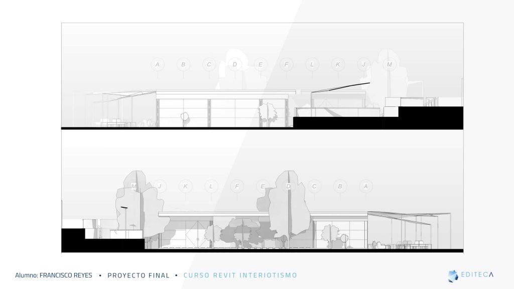 alzados-Proyecto proyecto revit interiorismo Francisco Reyes