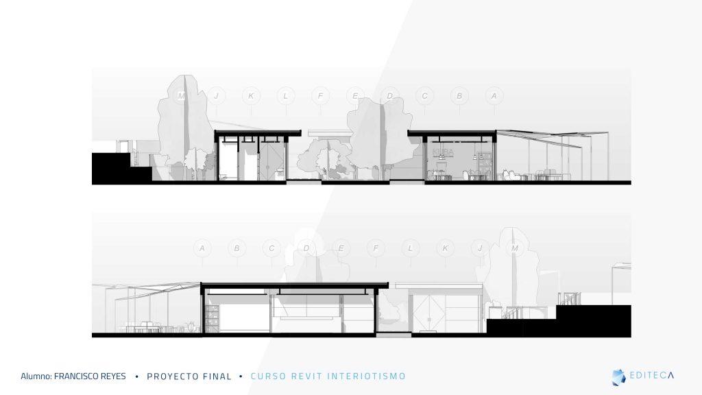 secciones-Proyecto proyecto revit interiorismo Francisco Reyes