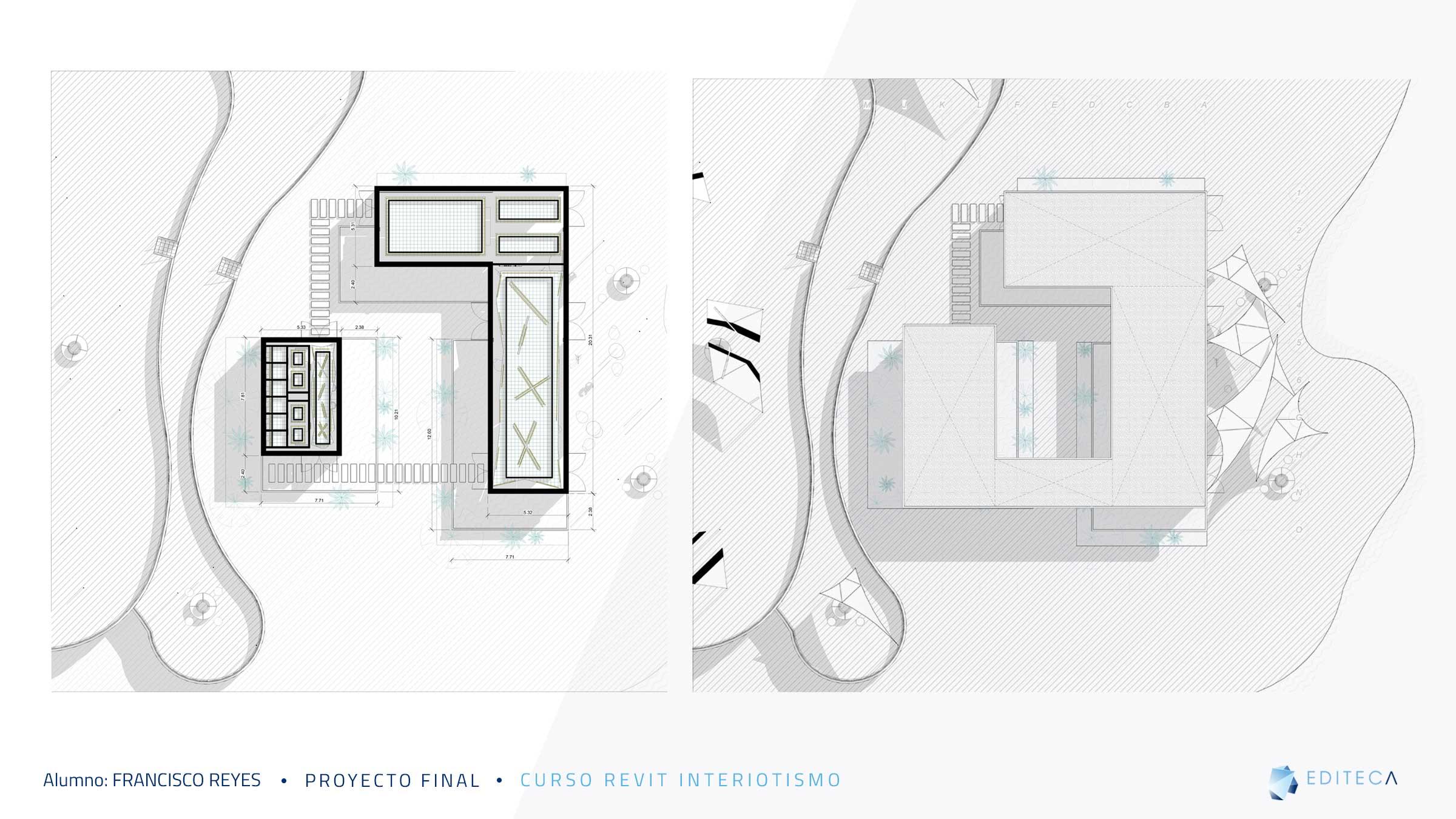 Luminarias-Proyecto proyecto revit interiorismo Francisco Reyes