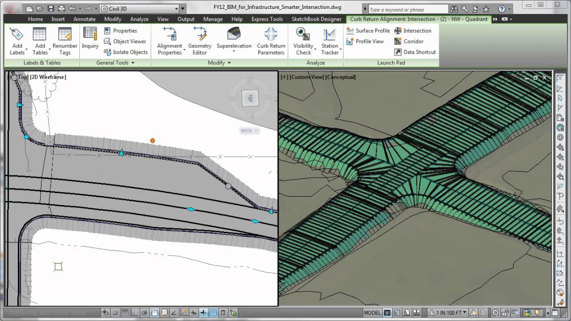 Ejemplo software BIM Civil 3D