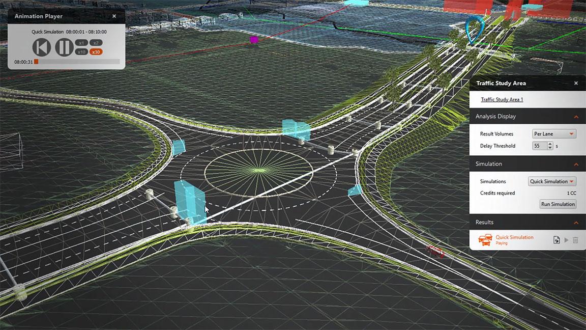 Ejemplo del software de Infraworks-los softwares BIM