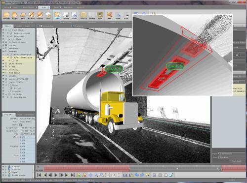 Ejemplo del software BIM bentley pointools