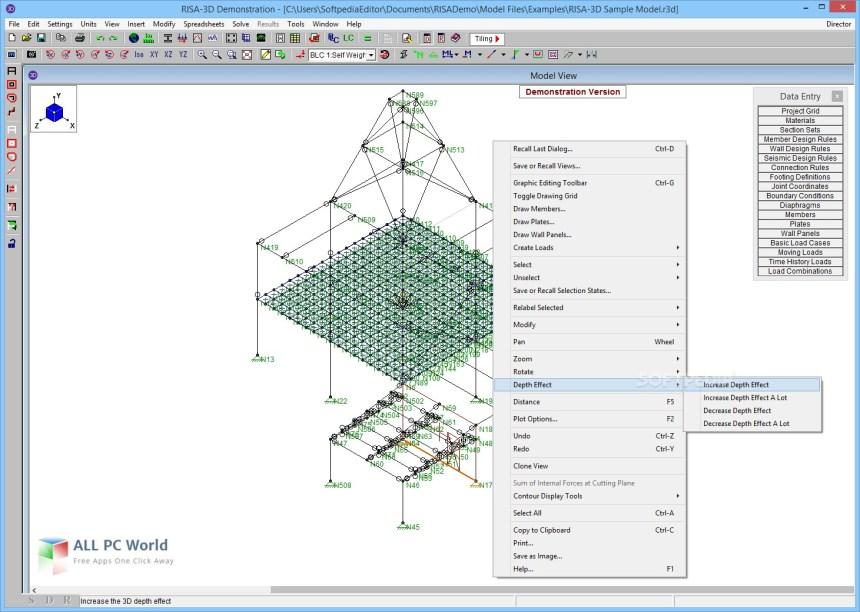 Ejemplo del software risa 3d